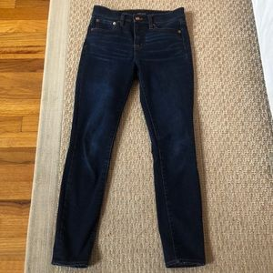 """J.crew jeans size 24. 9"""" high rise toothpick"""